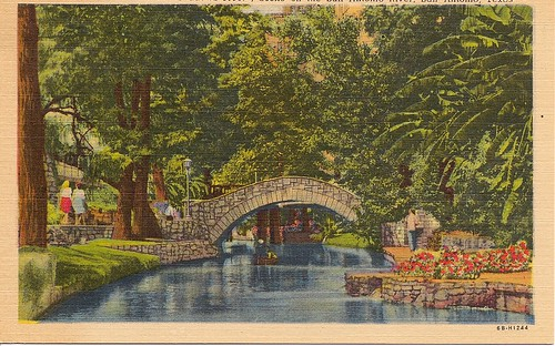 River Walk Postcard San Antonio