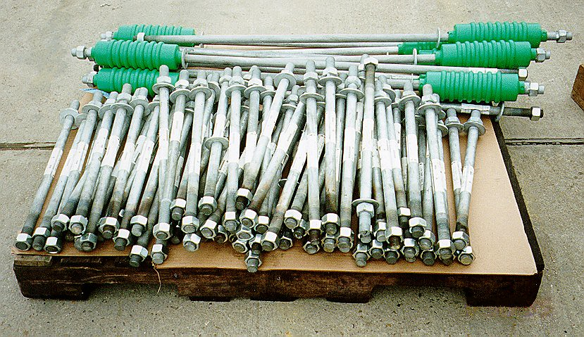Anchor Bolts with Polyethylene Sleeves