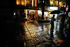 1917/1856*'^+z] (june1777) Tags: street light rain silhouette night umbrella canon eos 28mm snap 1600 clear e seoul 5d nikkor f28 insadong ais 28mmf28ais