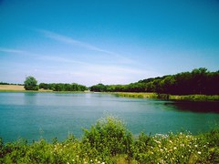 Lake at Oak Point Park in Plano, Texas