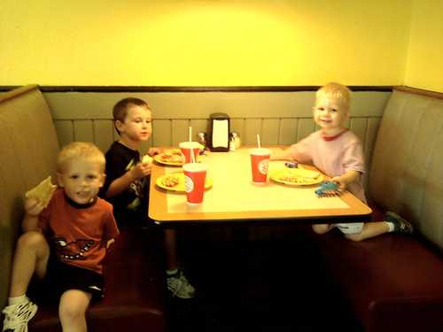 The Boys Table at CiCi's
