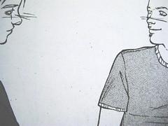 Non ti avevo nemmeno notato, di Sandro Campani (testo) e Daniele Coppi (disegni), Playground 2010; graphic designer: Federico Borghi [flickr name: ƒe], p. 47 (part.)