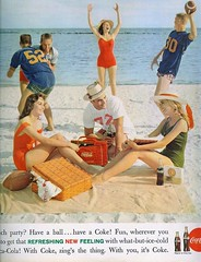 Zing's the thing (sugarpie honeybunch) Tags: summer beach magazine advertising 60s ad coke cocacola 1960s seventeen