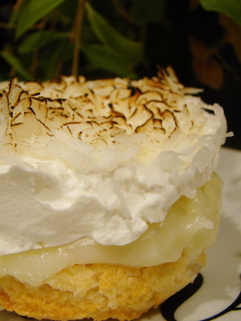 Lime Coconut Custard Pie