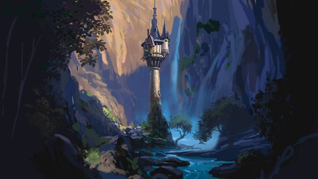"""Tangled"" de Disney, arte conceptual"