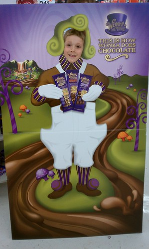 Finally found a Oompa Loompa cutout! Here is my 6 year old. Fun!