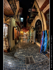 199/365 - HDR - Crete.Rethymno.VI.@.550x825 (Pawel Tomaszewicz) Tags: street camera new light shadow summer holiday fish streets eye colors architecture night photoshop canon buildings lens island greek photography eos lights photo long exposure foto view nocturnal creative kreta hobby fisheye greece crete fotografia hdr cyclades fable noc nocturno aparat pawel wakacje nocturn oko  kriti architektura  4xp grecja photomatix   odpoczynek wiata wyspa  400d wyspy eos400d 1200x800 fotografowie polscy cyklady rybie  tomaszewicz paweltomaszewicz