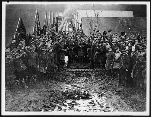 Happy Scottish troops on New Year's Day