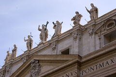Statues Above St. Peter's