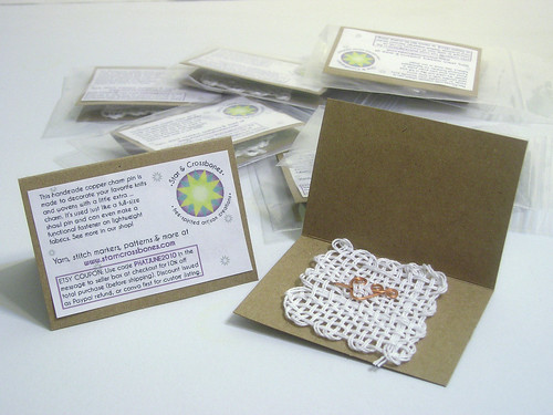 Charm pins for Phat Fiber June 2010