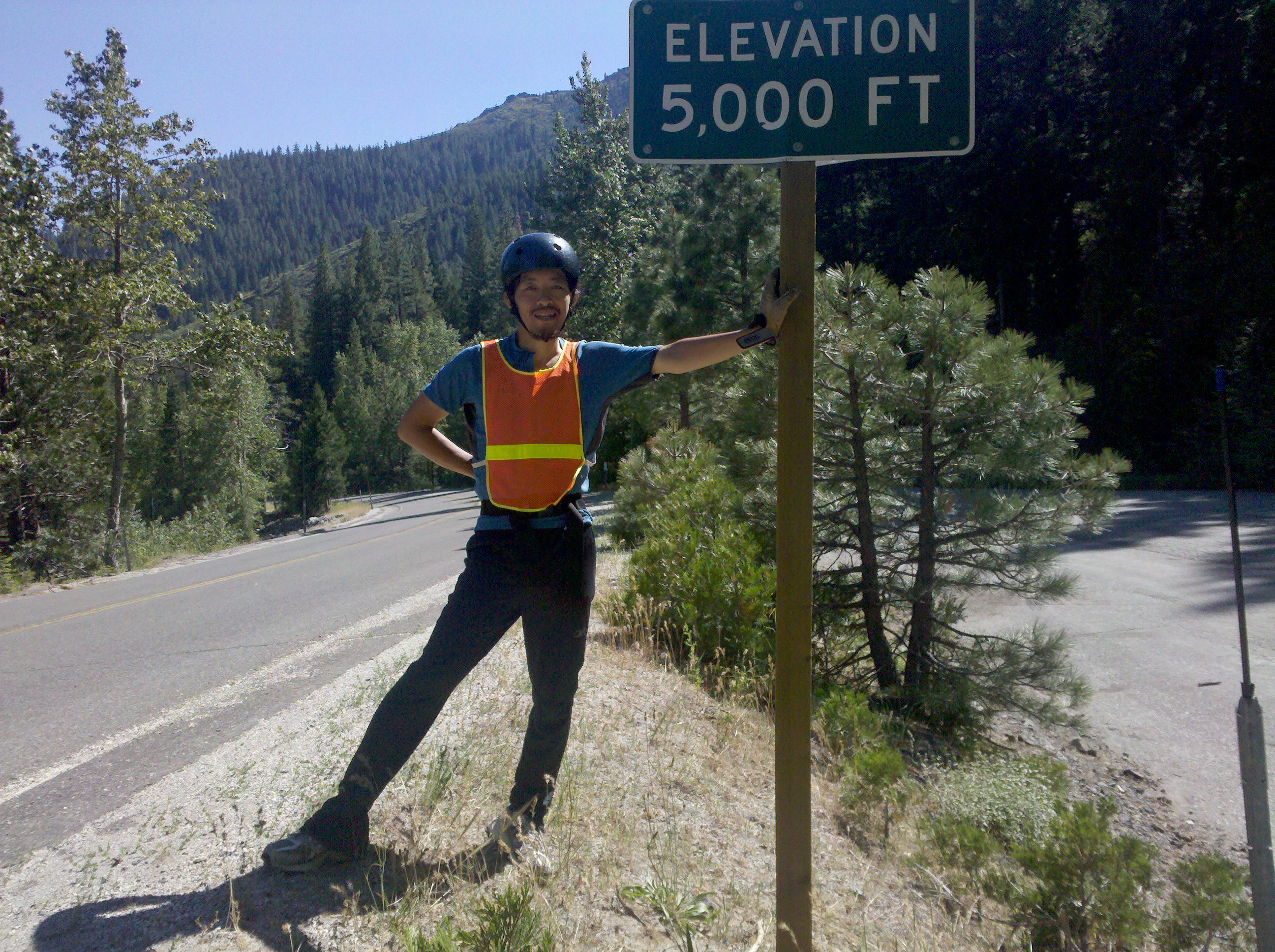 at 5000 ft on State Route 49 between Sierra City and Bassetts in the Tahoe National Forest