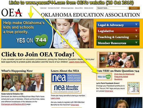 Links to yeson744.com from OEA