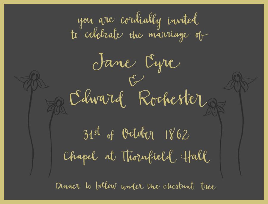 Jane Eyre's wedding invitation