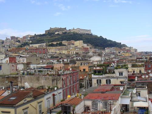 Vista de la ciudad de espaldas al mar