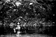 Guilt comes to haunt (REM (rembcc)) Tags: bw white black slr film water lady noir blind kodak tmax edited philippines picasa blanca laguna blanc yashica negra outtake blindfold majayjay kalachuchi pinoykodakero rembcc flickristasindios frii halloweenupload