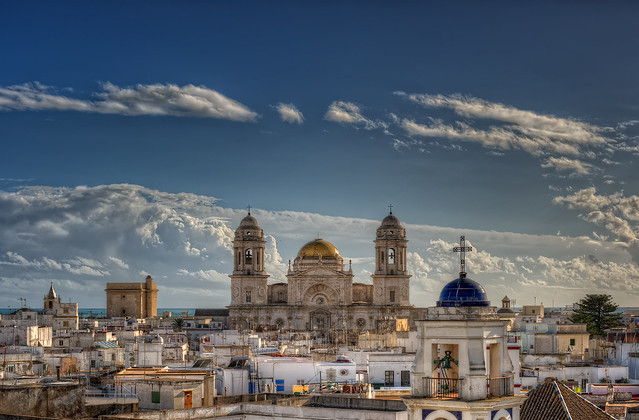 View of the Cathedral of Cadiz – Vista de la Catedral de Cádiz (Spain), HDR