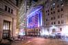 Wall Street At Sleep, with lights. (Tony Shi Photos) Tags: nyc light newyork photo purple manhattan district wallstreet asleep financial hdr stockexchange nyse nuevayork 纽约 紐約 نيويورك nikond700 ньюйорк 뉴욕주 tonyshi ניויאָרק