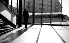 Exit (MeckiMac) Tags: leica windows building delete10 architecture delete9 delete5 delete2 switzerland europe shadows architecturaldetail delete6 delete7 streetphotography zug delete8 delete3 delete delete4 trainstation m8 portal exit worldregionscountries