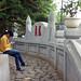 Texting in Hoan Kiem Lake