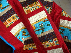 owl strip quilt detail