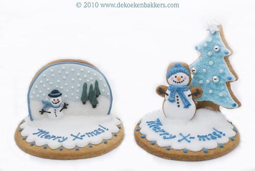 3D Christmas cookies for MjamTaart! magazine