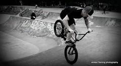 IMG_4216 BMX stunt (marinbiker 1961) Tags: male men kelvingrovepark glasgow 2017 hats tattoo earplugs bw monochrome outdoor