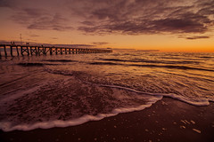 Tide and time (dmunro100) Tags: sea sand pier jetty grange beach adelaide sunset dusk twilight winter peaceful serene quiet southaustralia