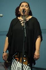 Rhiannon Giddens (2017) 17 - Lalenja Harrington (guest) (KM's Live Music shots) Tags: americana unitedstates rhiannongiddens neworleansjazzheritagefestival bluestent fairgroundsracecourseneworleans