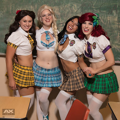Anime Expo 2017 The Royal Princess Academy (Manny Llanura) Tags: angi viper princess elsa utahime cosplay pocahantas ashley beth rose belle ali williams ariel mann mannyllanuraphotography llanura disney anime expo 2017 ax2017 ax school girls mini skirt
