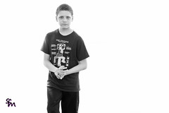 Young Man Jaiden (4inthehouse) Tags: jaiden minecraft creeper tshirt bw creepus explodus