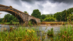 Riverside.... (Einir Wyn Leigh) Tags: landscape riverside water wales bridge stone wildlife nature natural foliage flora flowers summer rain july cottage green clouds walking pleasure happy outdoors cymru trees
