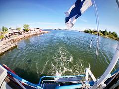 (Sameli) Tags: summer sea boat flag water sunny helsinki suomi finland