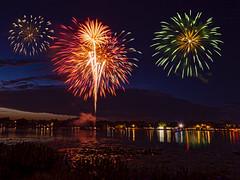 Composite (villagebearfl) Tags: firework leesburg olympus