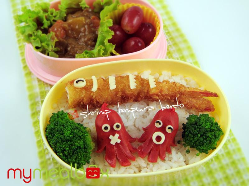 Shrimp tempura bento