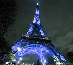 The eiffel tower by night (Maron) Tags: blue light paris france night dark lights tour eiffeltower eiffel towe supermarion marionnesje