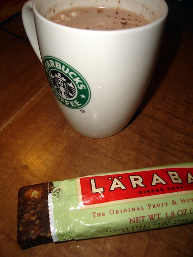Hot Chocolate and Larabar