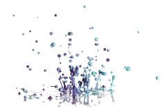 Purple & Blue (Morphicx) Tags: blue blur color art colors closeup canon studio fun fly flying drops dof purple dancing action bokeh drop 100mm confetti droplet 5d f28 strobe strobist bokehwhores bokehwhore