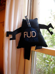 A Plush A Day Challenge: Day 17 - FUDbot (back)