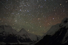 星空下的汗腾格里峰 / Mt. Khan Tengri under Galaxy