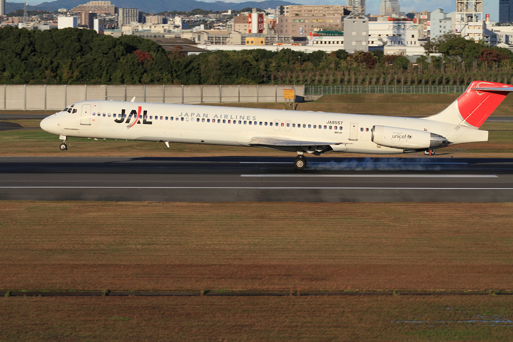just touch down (JAL's MD-81 / JA8557)