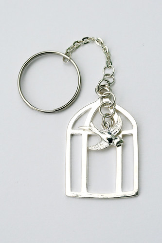 Bird in a Cage Keychain