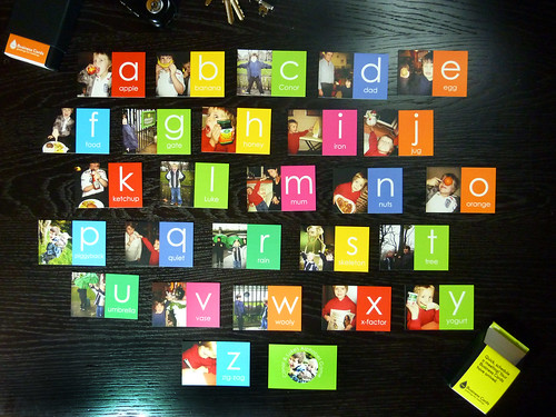 Alphabet game on Moo Cards