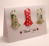 Origami Dress Thank You Card