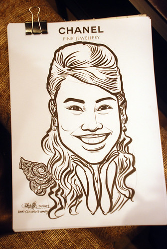 Caricature live sketching for Chanel Day 1 - 11
