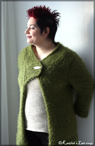 green teddy coat 2