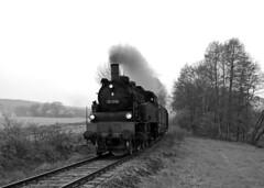 75 1118 (maurizio messa) Tags: railroad germany bayern blackwhite railway trains steam bahn bianconero mau germania rhn freighttrain ferrovia treni dampf vapore nikond40x fotogterzug trenospeciale guterzuge extratrain br75 751118 teamlorie