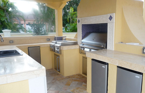 Large Built In Stainless Steel Grill