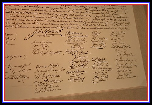 declaration of independence signatures. Entire Text of the Declaration