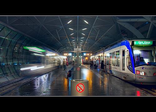 Beatrixkwartier Station - The Hague (DolliaSH) station train photoshop denhaag thehague hdr photomatix randstadrail tonemapping beatrixkwartier visitholland canoneos50d detailsenhancer dollia sheombar dolliash