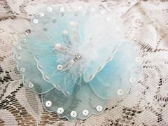 Blue Flower Haircomb